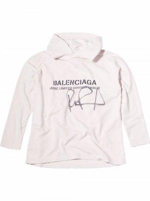 Худи RuPaul с логотипом Balenciaga. Цвет: белый