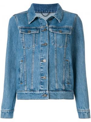 Джинсовая куртка с вышивкой Kenzo. Цвет: синий