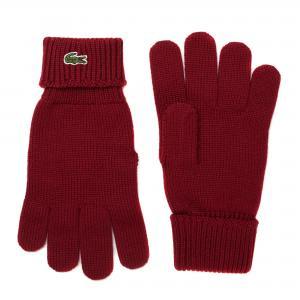Перчатки Lacoste. Цвет: красный