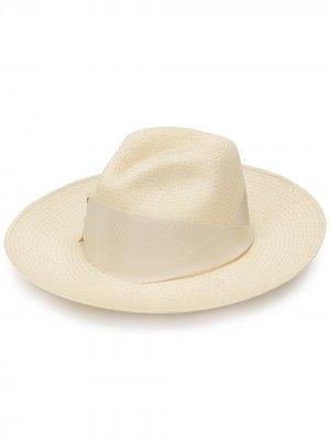 Соломенная шляпа Gardenia THE FREYA BRAND. Цвет: нейтральные цвета