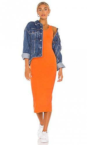 Платье миди carrie YEAR OF OURS. Цвет: оранжевый