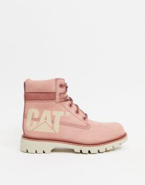 Розовые кожаные ботинки Caterpillar Lyric Bold-Розовый цвет Cat Footwear