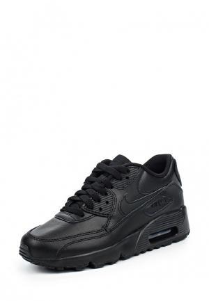 Кроссовки Nike Boys Air Max 90 Leather (GS) Shoe. Цвет: черный