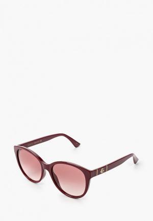 Очки солнцезащитные Gucci GG0631S 003. Цвет: бордовый