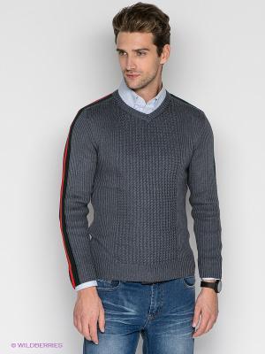 Пуловер Davani. Цвет: темно-серый