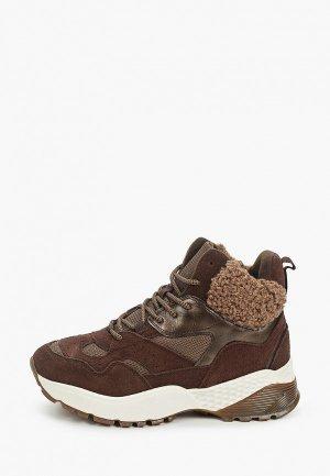 Кроссовки Escan. Цвет: коричневый