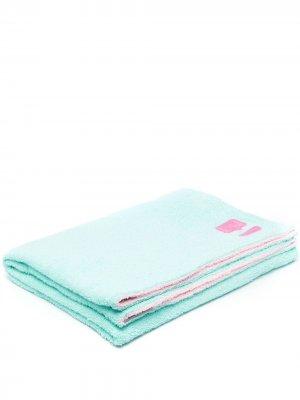 Двухцветное полотенце Chiara Ferragni. Цвет: синий