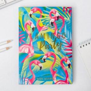 Ежедневник flamingo party, 96 л, искусственная кожа ArtFox