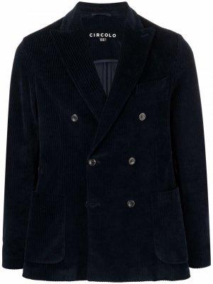 Вельветовый пиджак Circolo 1901. Цвет: синий