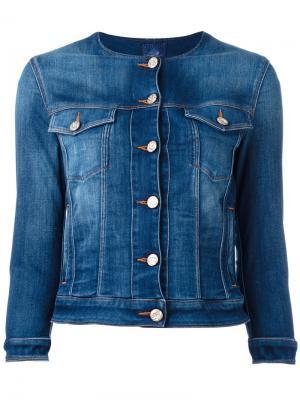 Джинсовая куртка с круглым вырезом Jacob Cohen. Цвет: синий