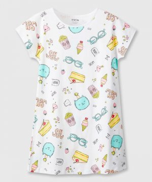 Ночная сорочка для девочек O`Stin. Цвет: белый