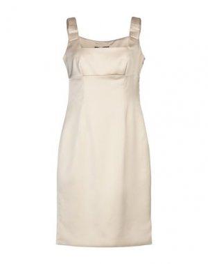 Короткое платье COMPAGNIA ITALIANA. Цвет: бежевый
