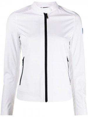 Укороченная куртка с аппликацией логотипа Colmar. Цвет: белый