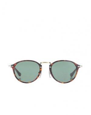 Солнечные очки PERSOL. Цвет: коричневый