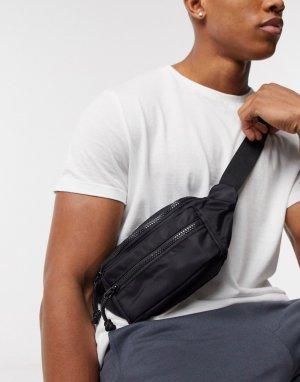 Черная сумка-кошелек на пояс в стиле милитари -Черный Topman