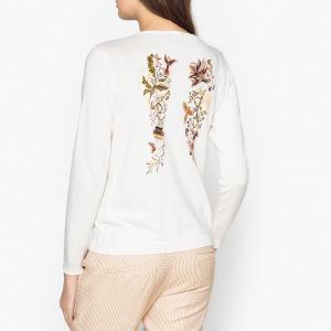 Пуловер из тонкого трикотажа с крыльями сзади LENNY BERENICE. Цвет: темно-синий
