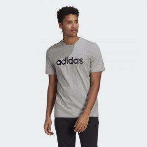Футболка Essentials Linear Logo Sport Inspired adidas. Цвет: серый