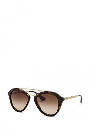 Очки солнцезащитные Prada 0PR 12QS 2AU6S1. Цвет: коричневый