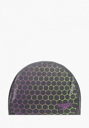Шапочка для плавания Speedo. Цвет: серый