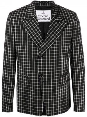 Пиджак в клетку Vivienne Westwood. Цвет: черный