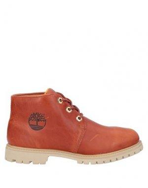Полусапоги и высокие ботинки TIMBERLAND. Цвет: желто-коричневый