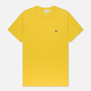 Мужская футболка Crew Neck Pima Cotton Lacoste. Цвет: жёлтый
