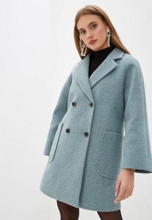 Пальто Acasta. Цвет: бирюзовый