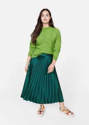Плиссированная миди-юбка - Madame Mango. Цвет: зеленый