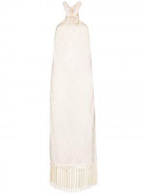 Платье Volver с вырезом халтер Taller Marmo. Цвет: нейтральные цвета