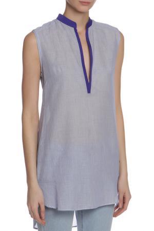 Блузка CNC Costume National C'N'C. Цвет: голубой