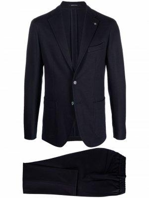 Single-breasted tailored suit Tagliatore. Цвет: синий