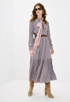 Платье Katya Erokhina. Цвет: разноцветный