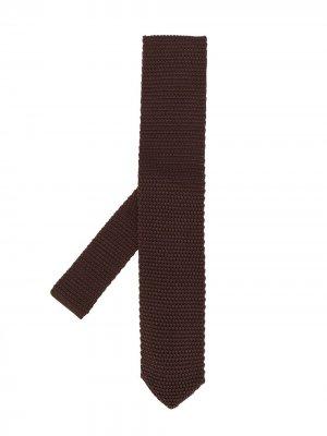 Knitted pointed-tip tie Brunello Cucinelli. Цвет: коричневый