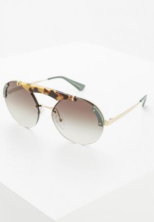 Очки солнцезащитные Prada PR 52US SZ60A7. Цвет: серый