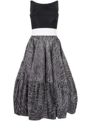 Платье с пышной юбкой Antonio Berardi. Цвет: разноцветный