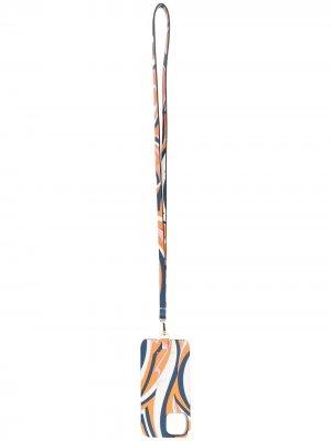 Чехол для iPhone 11 с принтом Vortici Emilio Pucci. Цвет: синий