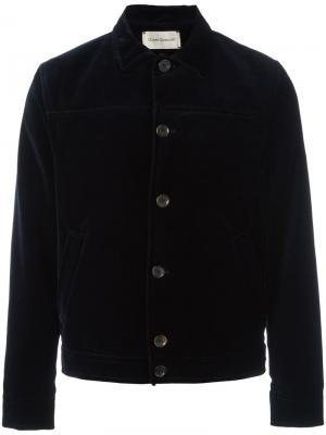 Бархатный пиджак Oliver Spencer. Цвет: синий