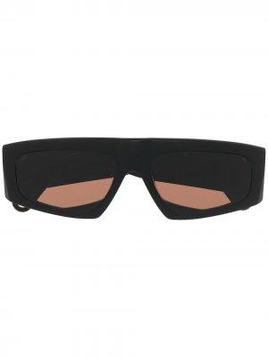Солнцезащитные очки Yauco в геометричной оправе Jacquemus. Цвет: черный