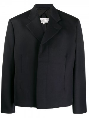 Твиловый пиджак в технике Décortiqué Maison Margiela. Цвет: синий