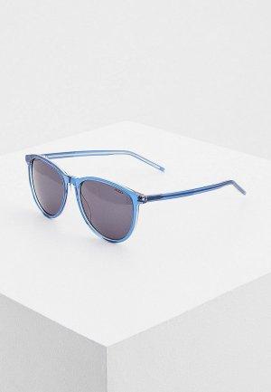 Очки солнцезащитные Hugo HG 1095/S OXZ. Цвет: синий