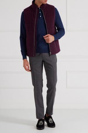 Серые классические брюки Etro. Цвет: серый
