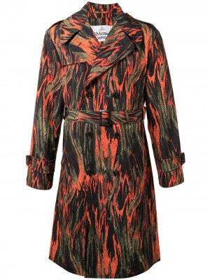 Тренч с принтом Vivienne Westwood. Цвет: разноцветный