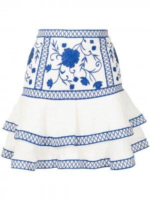 Юбка мини Cedra Alexis. Цвет: белый