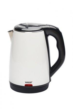 Чайник электрический 1,8л Vitesse. Цвет: белый, черный