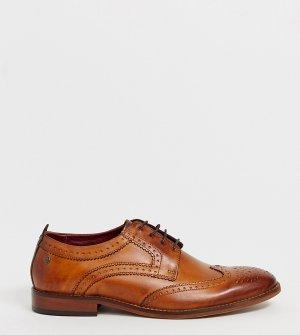 Светло-коричневые кожаные броги для широкой стопы -Светло-коричневый Base London