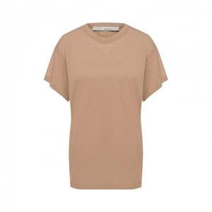 Льняная футболка Iro. Цвет: бежевый