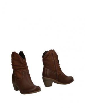 Полусапоги и высокие ботинки ANNA FIELD. Цвет: коричневый