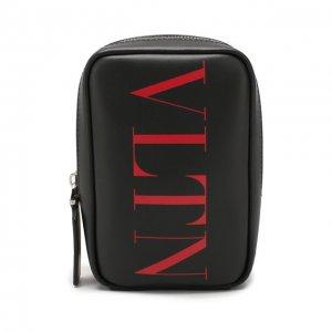 Кожаная сумка Garavani VLTN Valentino. Цвет: чёрный