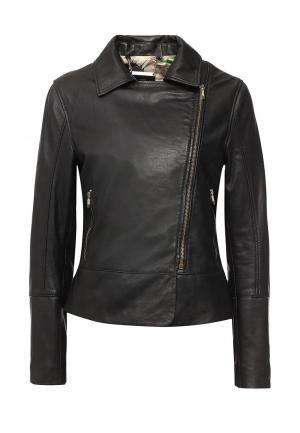 Куртка кожаная Ted Baker London TE019EWPAG21. Цвет: черный
