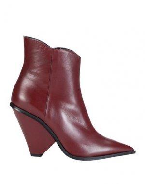 Полусапоги и высокие ботинки GIAMPAOLO VIOZZI. Цвет: красно-коричневый
